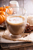 Pumpkin spice latte with spices Royalty Free Stock Images