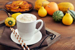 Pumpkin spice latte Royalty Free Stock Photo
