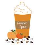 Pumpkin Spice Whipped Coffee Stock Image