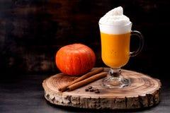 Pumpkin Spicy Latte Smoothie Stock Photos