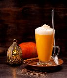 Pumpkin Spicy Latte Smoothie Royalty Free Stock Photography