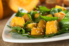 Pumpkin and Spinach Salad Royalty Free Stock Images
