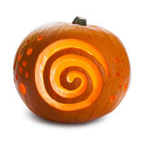 Pumpkin, with spirals like the dreamstime logo. Halloween Pumpkin, with spirals like the dreamstime logo, isolated royalty free stock photos