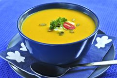 Pumpkin or squash soup Stock Images