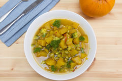 Pumpkin stew royalty free stock images