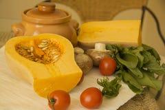 Pumpkin stew ingredients Stock Photo