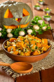 Pumpkin stew with mushrooms Stock Photo