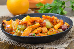 Pumpkin stew with vegetables Royalty Free Stock Photos