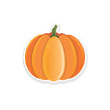 Pumpkin sticker Stock Photos