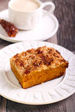 Pumpkin streusel cake Royalty Free Stock Photos