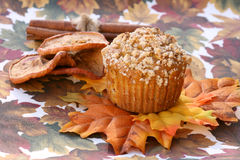 Pumpkin Streusel Muffin Stock Photos