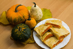 Pumpkin Strudel Stock Photography