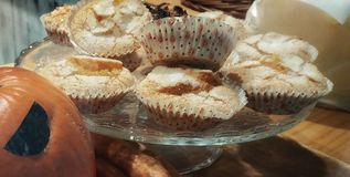 Some Halloween muffins. Pumpkin and sugar muffins from Halloween Stock Photo