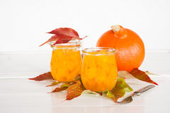 Pumpkin in a sweet-and-sour sauce inlaidly. In glasses Royalty Free Stock Image