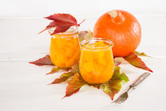 Pumpkin in a sweet-and-sour sauce inlaidly Stock Photos