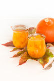 Pumpkin in a sweet-and-sour sauce inlaidly. In glasses Royalty Free Stock Photos