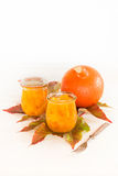 Pumpkin in a sweet-and-sour sauce inlaidly. In glasses Royalty Free Stock Photo