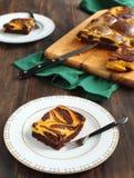 Pumpkin swirl brownies Royalty Free Stock Photos