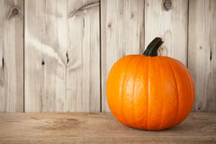 Pumpkin on table Royalty Free Stock Photography