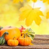 Pumpkin on table Stock Photo