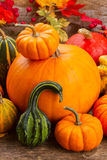 Pumpkin on table Royalty Free Stock Photo