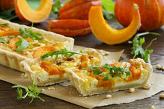 Pumpkin tart with cheese Royalty Free Stock Images