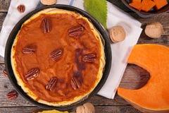 Pumpkin tart Stock Photo