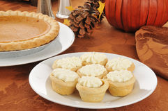 Pumpkin tarts Stock Photography