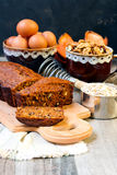 Pumpkin tea bread Royalty Free Stock Images