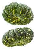 Pumpkin Thailand isolates. Both of which are green and raw, not cooked stock image