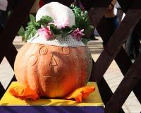 Pumpkin Thanksgiving Day Card - Stock Photos Stock Images