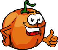 Pumpkin with thumb up Stock Images