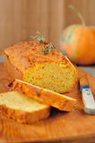 Pumpkin and Thyme Cornmeal Cake Stock Images