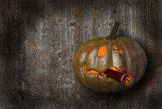 Pumpkin with TNT. Stock Image