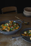 Pumpkin tofu dish Stock Photo