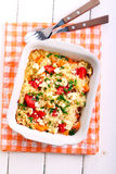 Pumpkin, tomato and fetta risotto Royalty Free Stock Photography