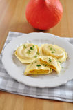 Pumpkin Tortellini Royalty Free Stock Images