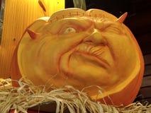 Pumpkin. Trick or Treat. Hallowen. Pumpkin face. Trick or treat. Hallowen Royalty Free Stock Photography