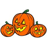 Pumpkin Trio Royalty Free Stock Photo