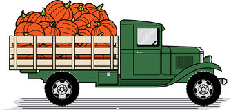 Pumpkin Truck Stock Photo