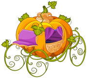 Pumpkin Turn into a Carriage for Cinderella Royalty Free Stock Image