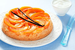Pumpkin upside down cake Stock Images