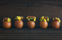 Pumpkin Vases royalty free stock photography
