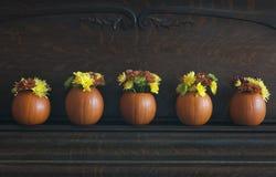Pumpkin Vases Royalty Free Stock Photography