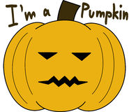 Pumpkin vector face cartoon emotion expression simple Royalty Free Stock Photography