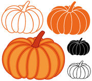 Pumpkin. Vector illustration (EPS 10 Royalty Free Stock Photo