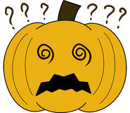 Pumpkin vectorface cartoon emotion expression confused Stock Photos