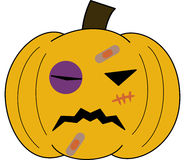 Pumpkin vectorface cartoon emotion expression fight Stock Photography