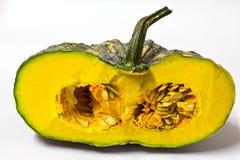 Pumpkin vegetable. Yellow pumpkin vegetable on white background Stock Photos
