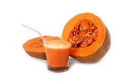 Pumpkin vegetable juice Stock Images